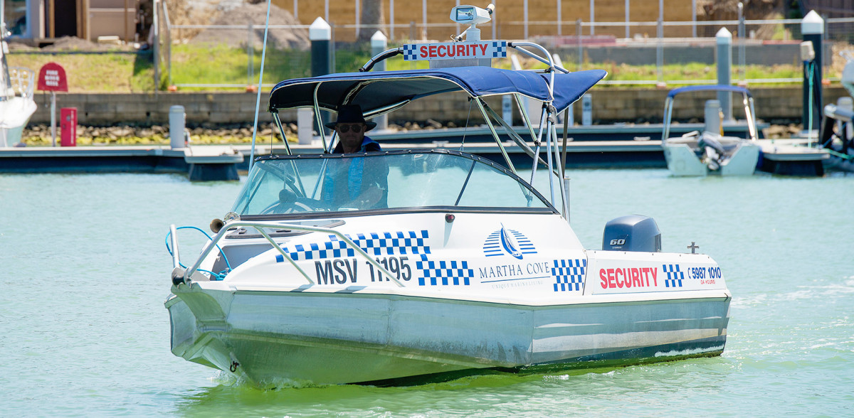 hidden harbour marina martha cove security boat. Safe and Secure